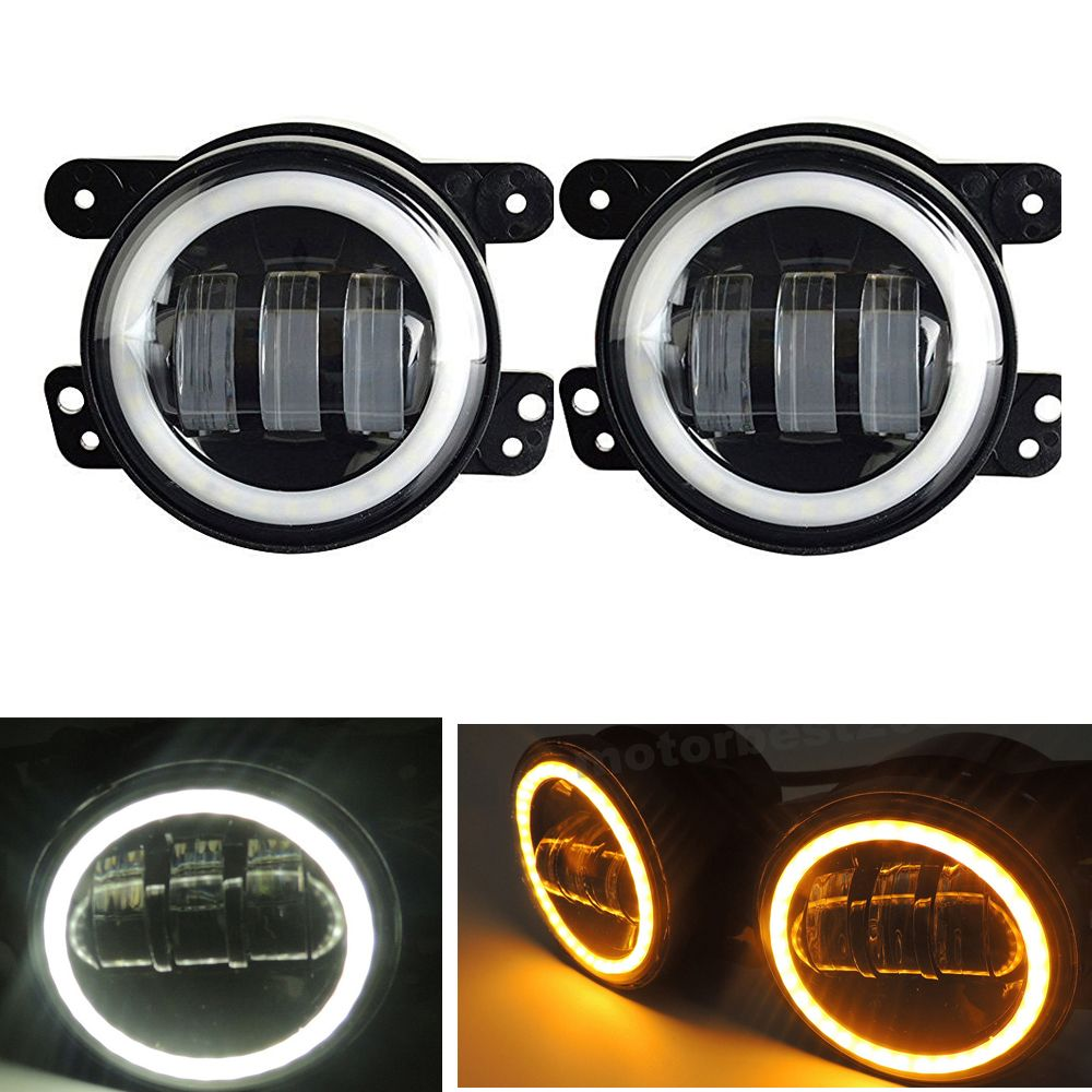 2pcs Pair 30w 4 Inch Round Fog Lights Lens Projector Lamp With Grand Livina 2012 Complete Drl