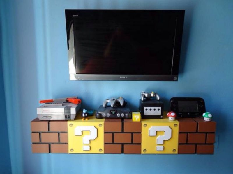 Super Mario Brick Shelves For Kids Bedroom Designed By