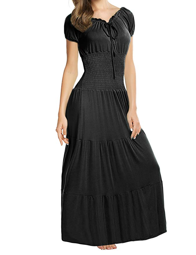 Photo of Amazon.com: Meaneor Women's Maxi Dress in Boho Style with Wing …
