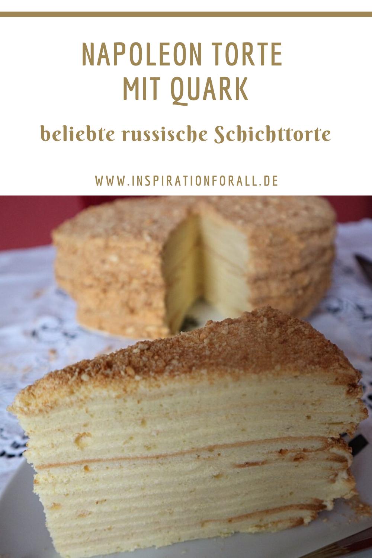 Torte Napoleon Mit Quark Rezept Fur Beliebten Kuchen Mal Anders In 2020 Napoleon Torte Schichttorten Rezepte