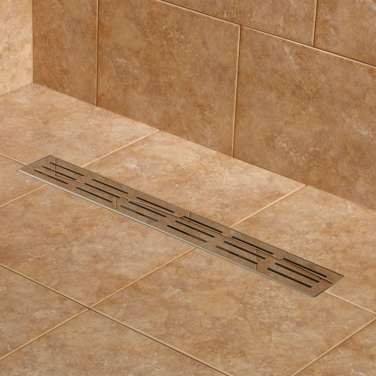 24 Siewart Linear Shower Drain Polished Stainless Steel Shower Drain Shower Panels Linear Drain