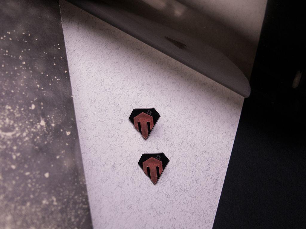 IX. [COPPER] You shall look ahead. Earrings / Size: 20 x 19mm