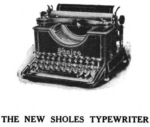 Newspaper Article about a newer-model typewriter made by Sholes