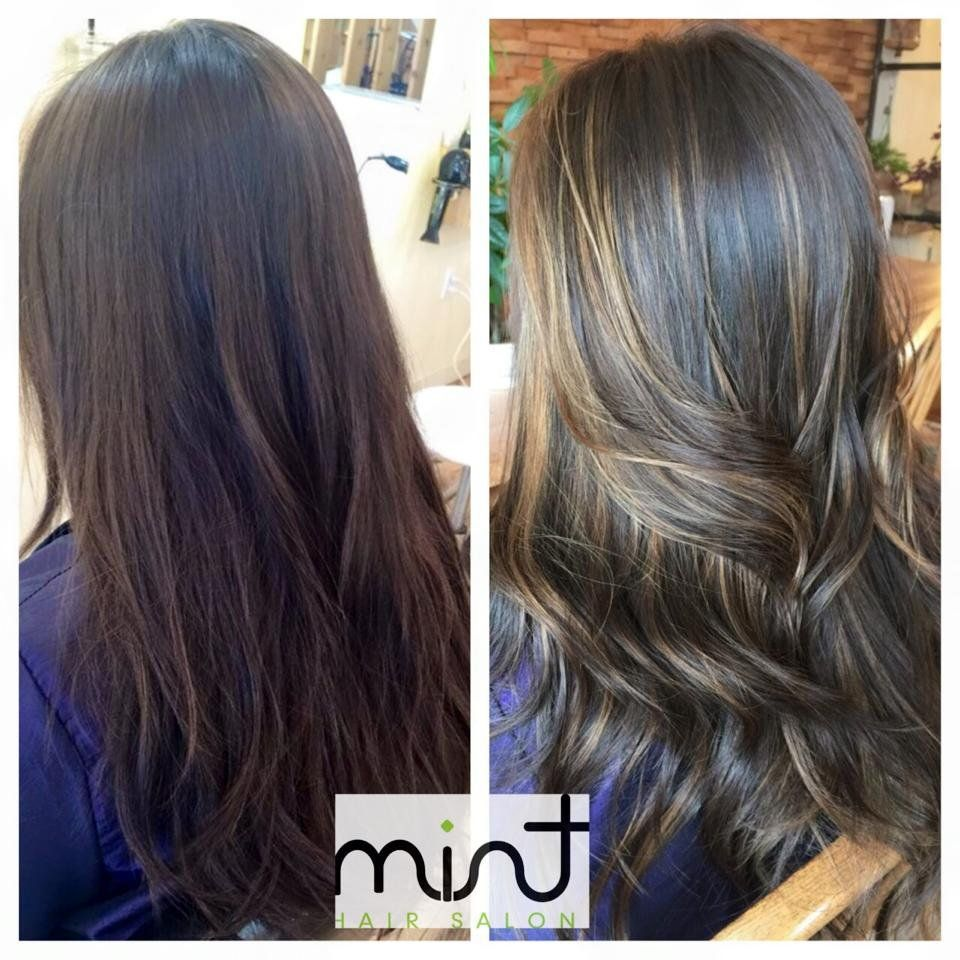 Balayage Before And After Dark Hair Google Search