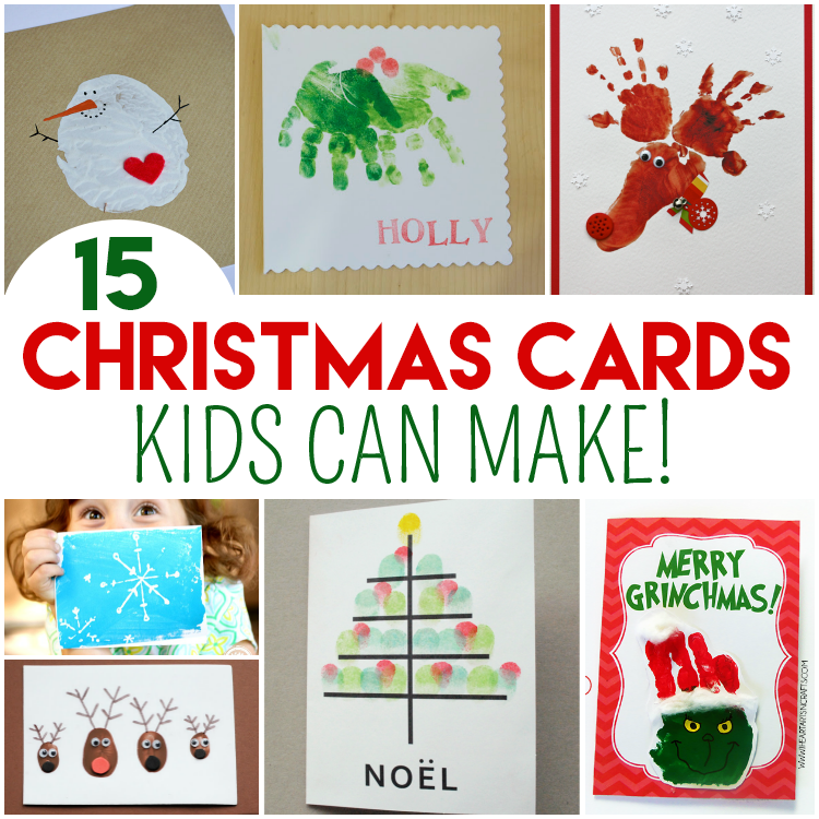Top 15 Christmas Cards Kids Can Make!