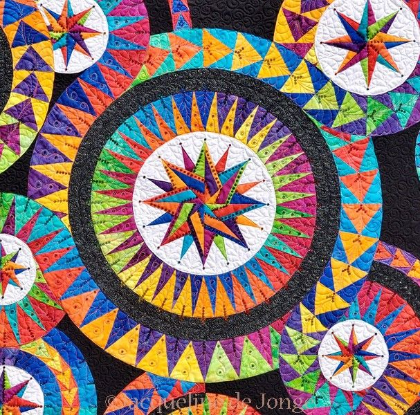 Detail Of Enchanting Stars Quilts Paper Pieced Quilt