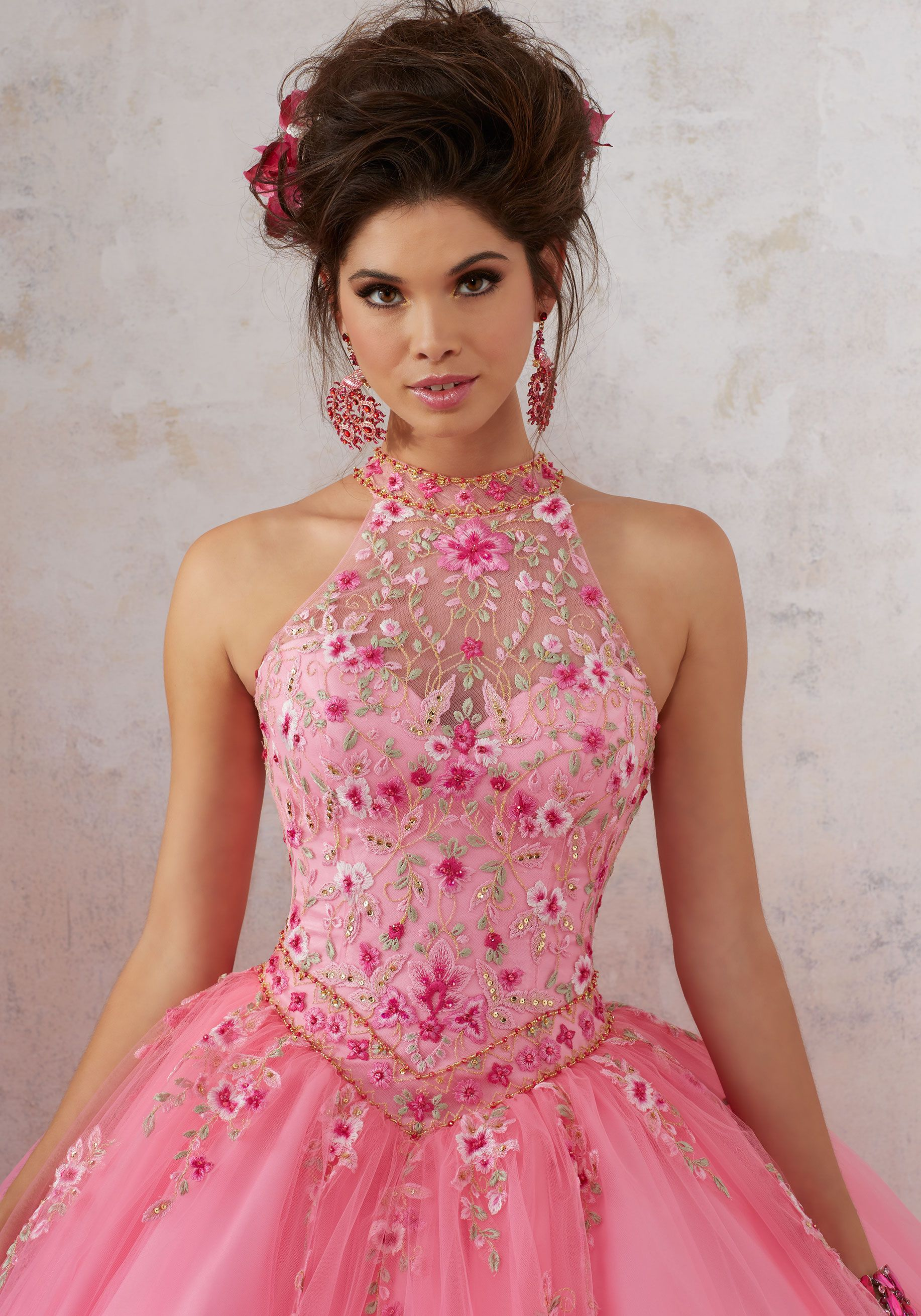 Embroidery and Beading on a Tulle Ballgown | Vizcaya Style 89134 ...