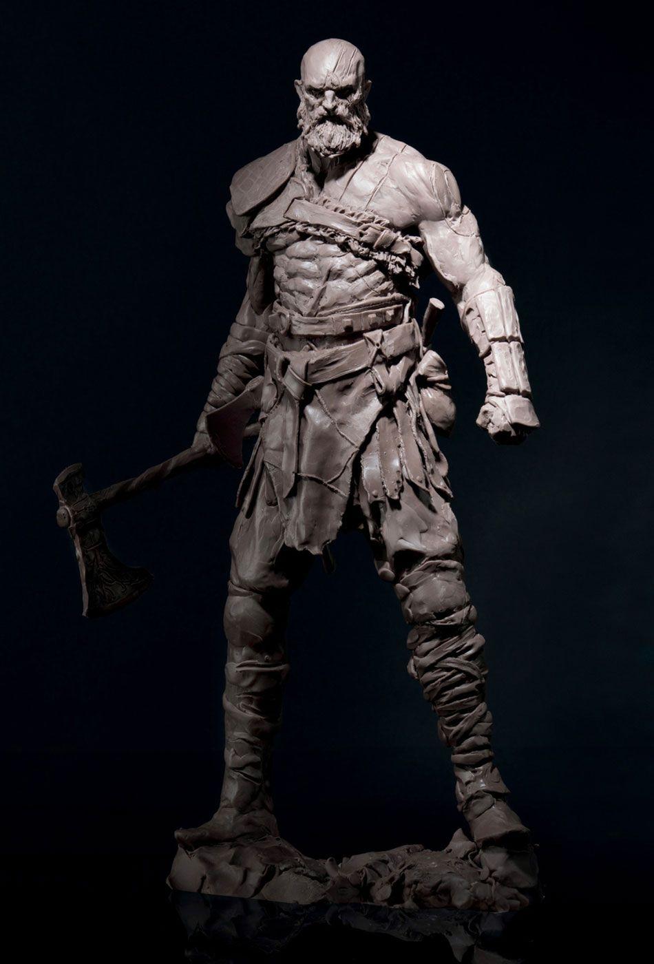 Kratos Sculpt From God Of War Concept Art World Character