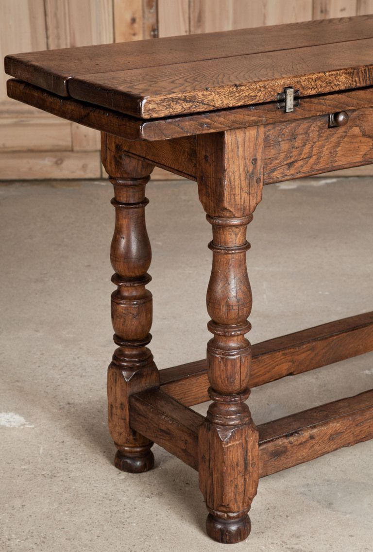Antique sofa table - Antique Flip Top Sofa Table