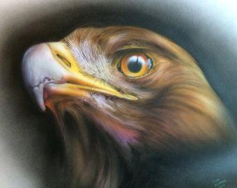 Airbrushed Brown Eagle | spirit animal in 2019 | Airbrush, Airbrush