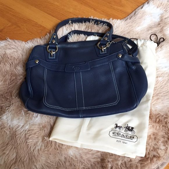 "Coach ""Officer Blue"" satchel in 2018   Purses   Pinterest   Satchel ... 115260980d"