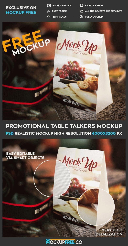 Free Table Tent PSD Mockup | Free Design Mockups | Pinterest