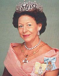 Princess Margaret, Countess of Snowdon. She wore the Family Orders of her father and sister.