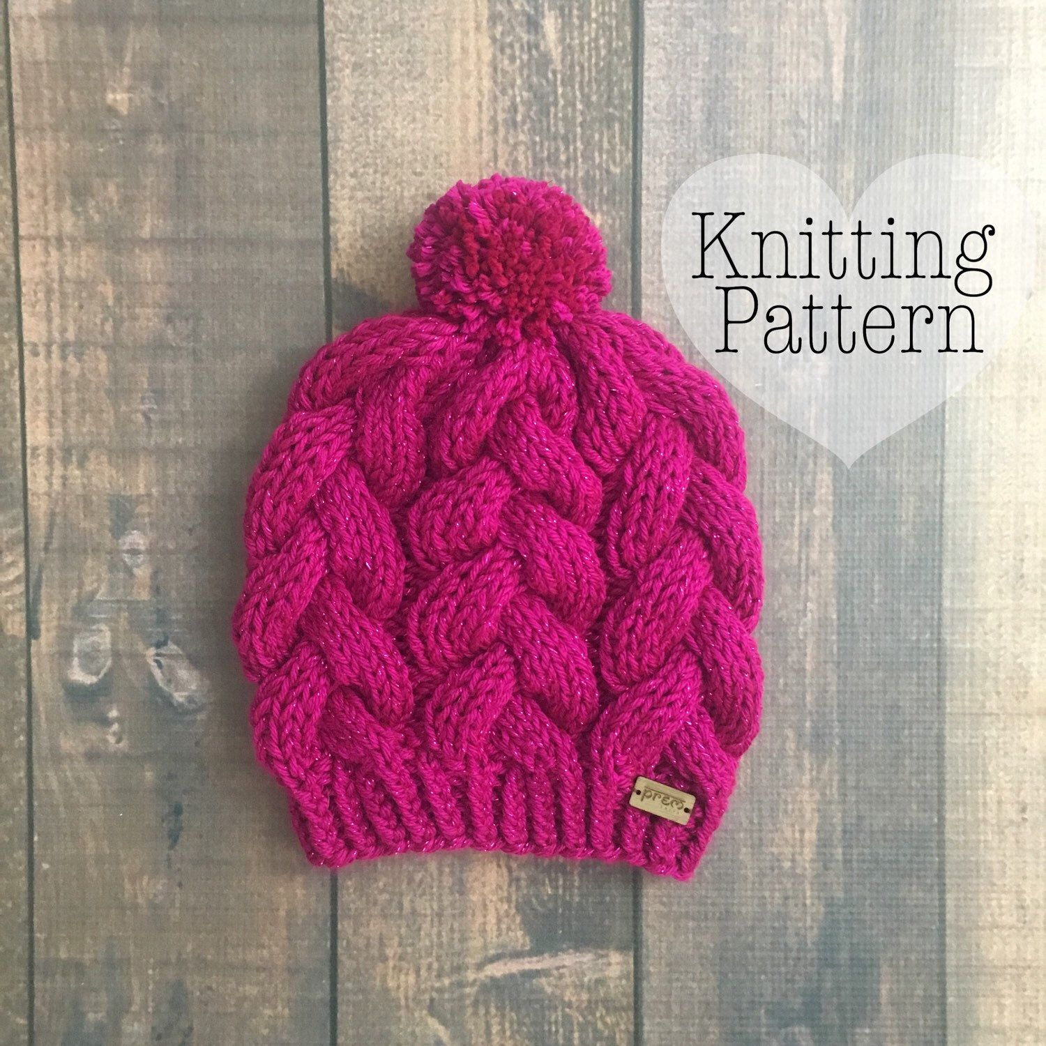 PDF Knitting pattern: This cable knit hat is a simple, easy ...