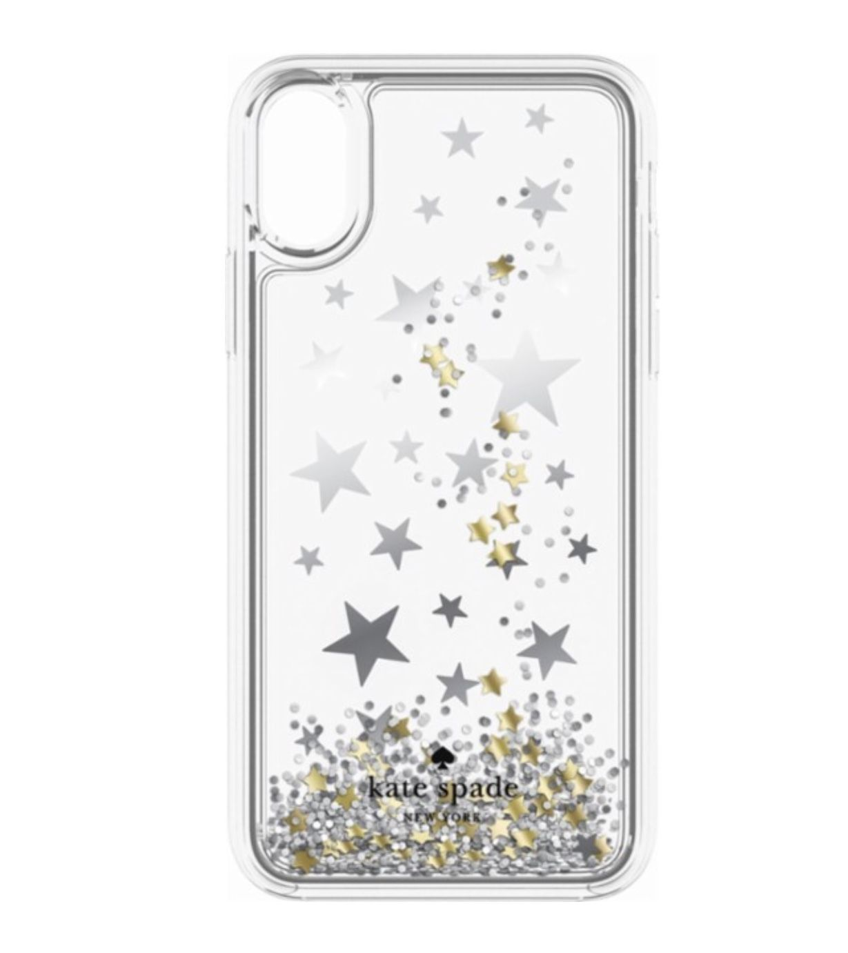 best loved dd4de b37a5 Kate Spade Silver and Gold Stars iPhone X Case #katespade #iphonex ...