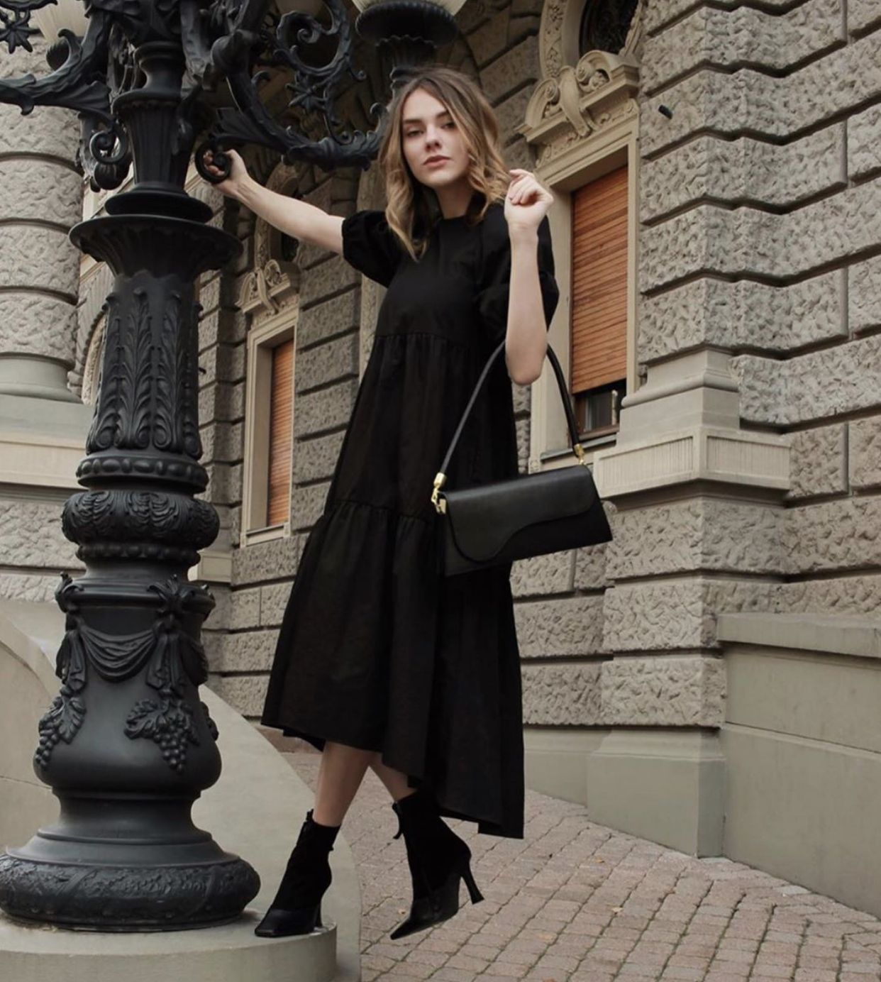 Black Tall Outfit For You Lady Fashion Outfits Outfits Fashion [ 1384 x 1242 Pixel ]