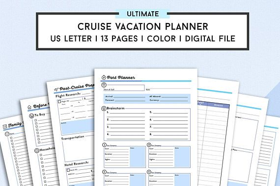 Cruise Planner Travel Agenda Cruise Vacation Planning Printables