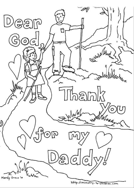 printable fathers day coloring pages - Fathers Day Coloring Pages