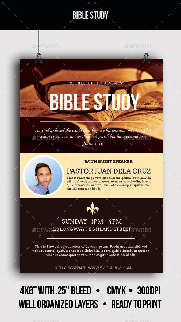 bible study flyers