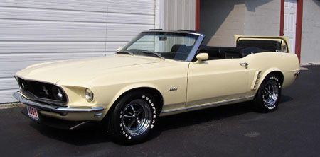1969 Mustang Convertible In Light Yellow Mustang Convertible Ford Mustang Convertible Ford Mustang