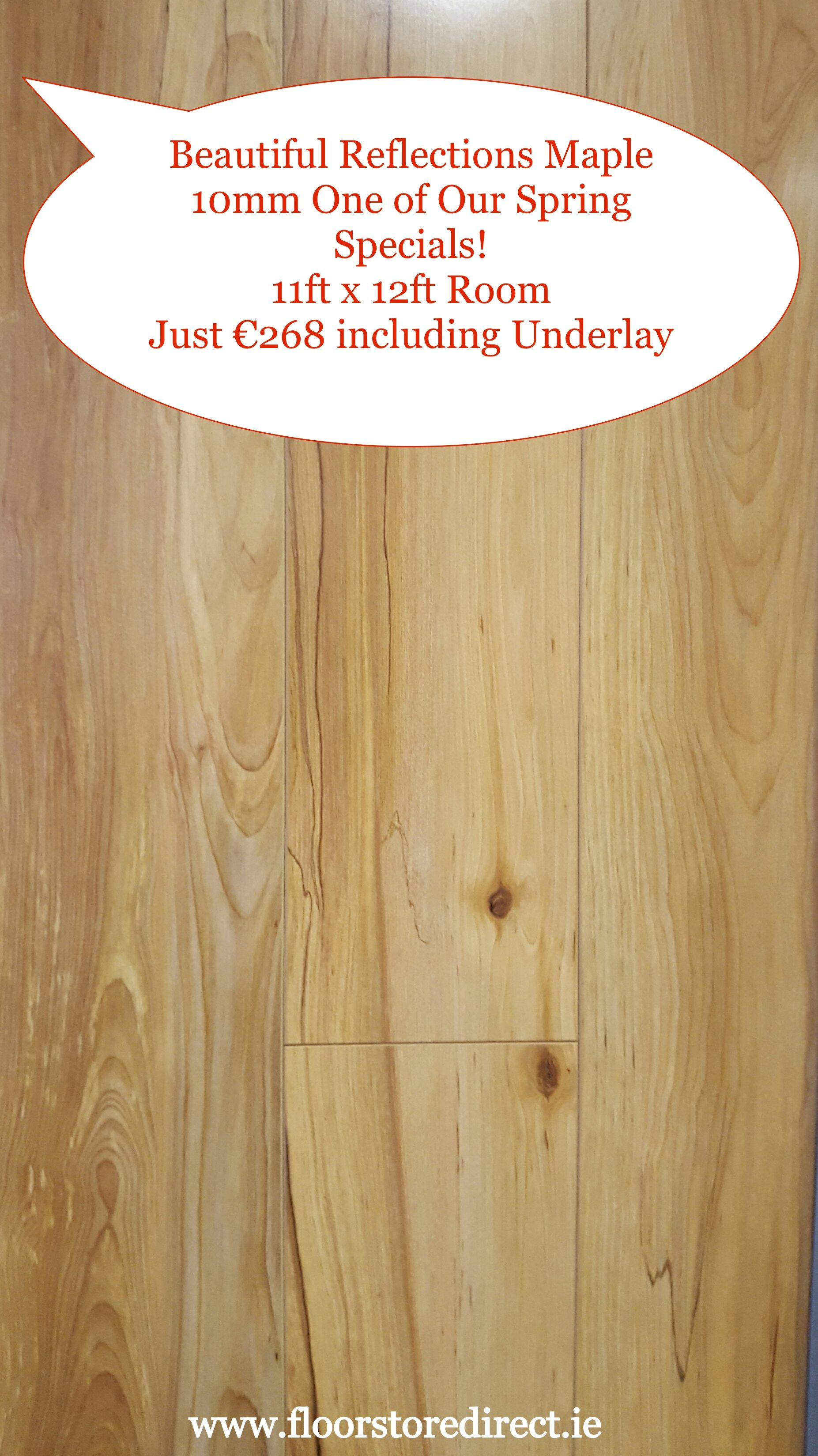 Our Marvellous Reflections Maple Laminate Wood Flooring 11ft X 12ft Room Just 268 Including Underlay Wood Floors Wood Laminate Laminate