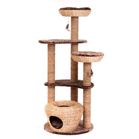 arbre chat avec grattoirs niche en papier et jouets arbre chat pinterest cat trees. Black Bedroom Furniture Sets. Home Design Ideas