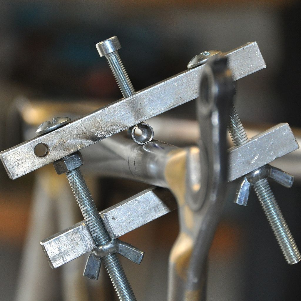 cable stop positioned for brazing | Brazing, Bicycling and Bike frame
