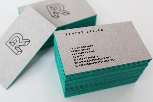 Revert design studio brand identity by trevor finnegan revert design business cards by trevor finnegang 600 reheart