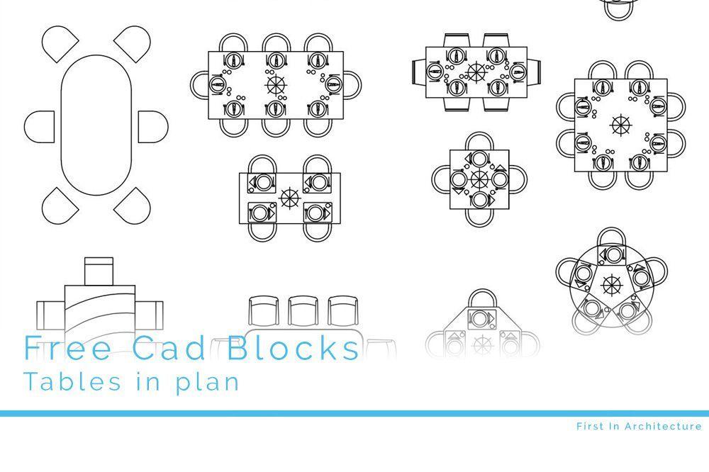 Free Cad Blocks Furniture 07 Tables Cad Cad Blocks