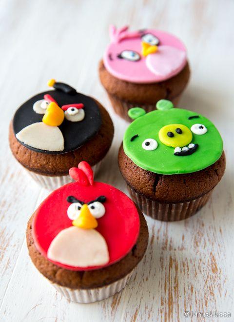 Angry Birds -muffinssit | Reseptit | Kinuskikissa