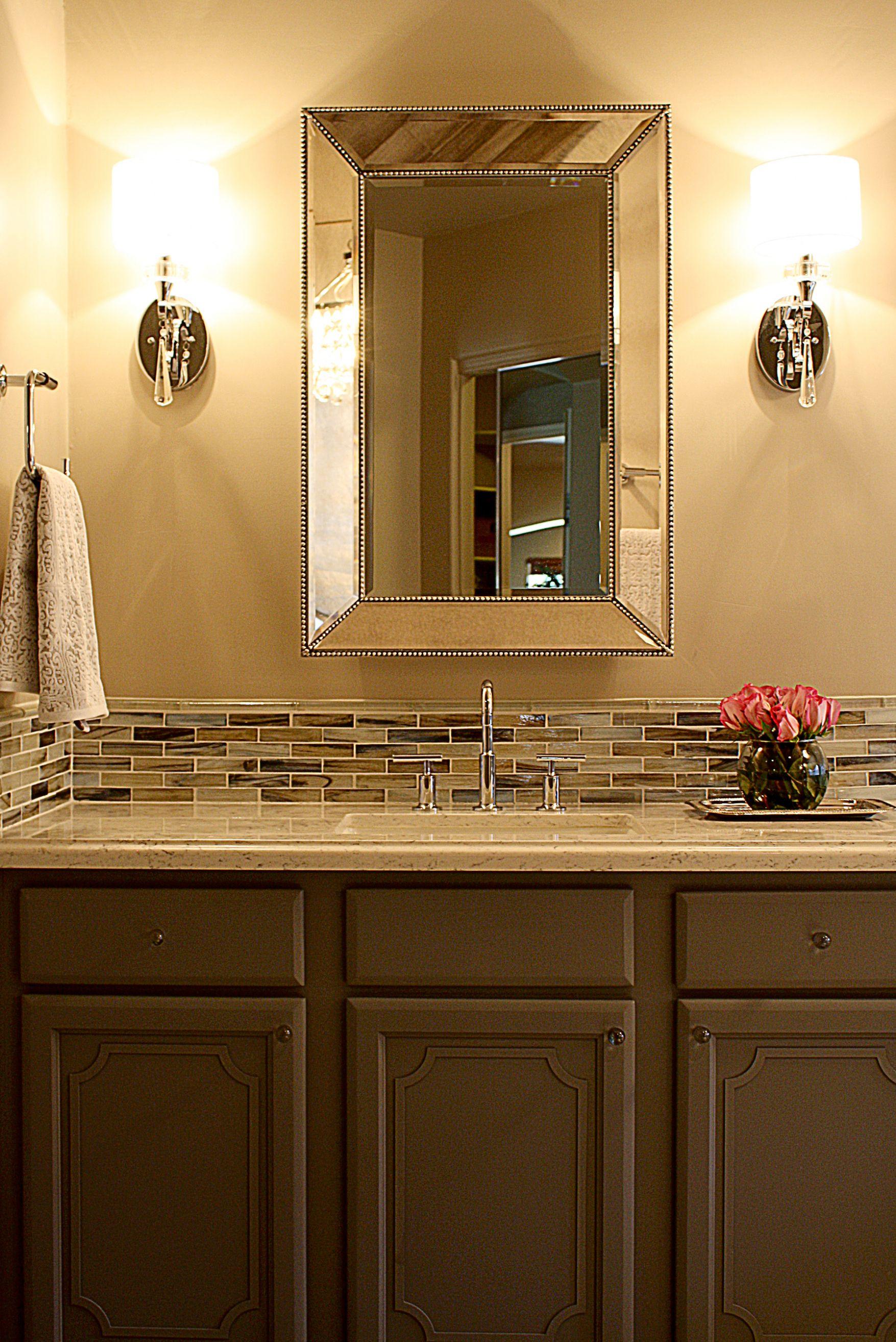 Innovative Bathroom Vanity Backsplash Ideas Regarding Current