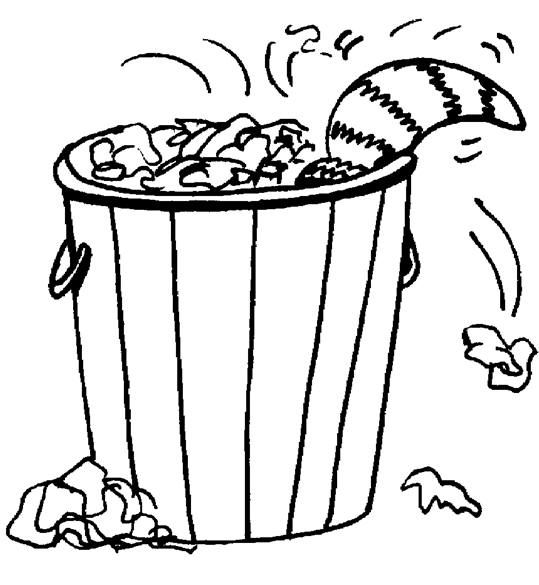 trash can coloring pages - photo#5