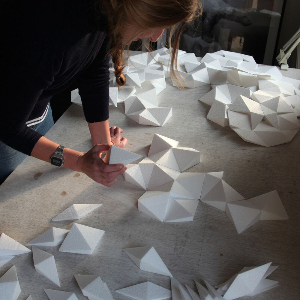 Rhombus Ceiling Tiles by The Fundamental Group   Origami Lamp ...