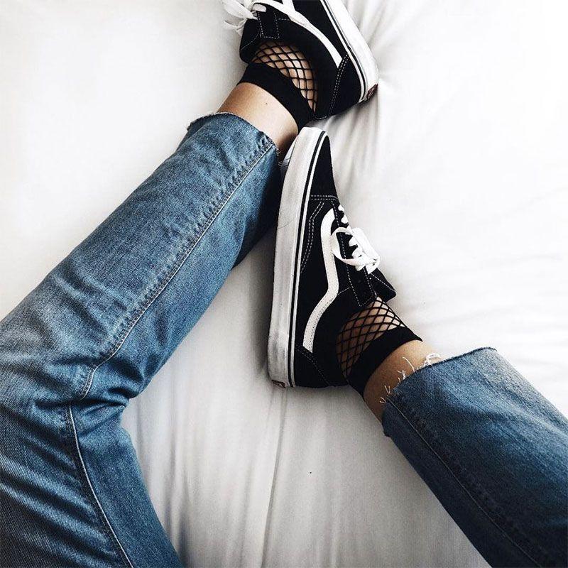 vans femme chausettes