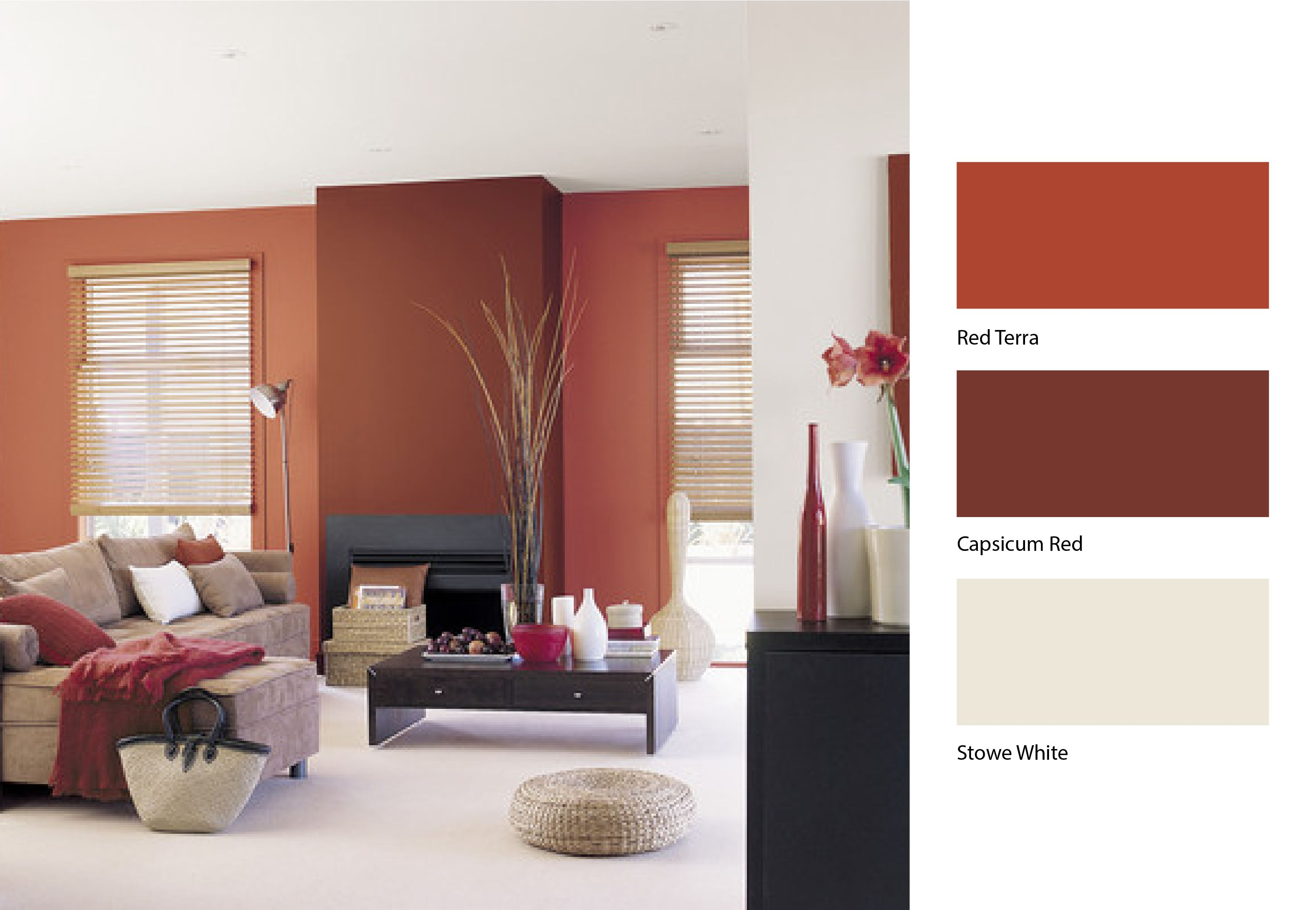 Give your home a warm glow with this mix of terracotta, red and ...
