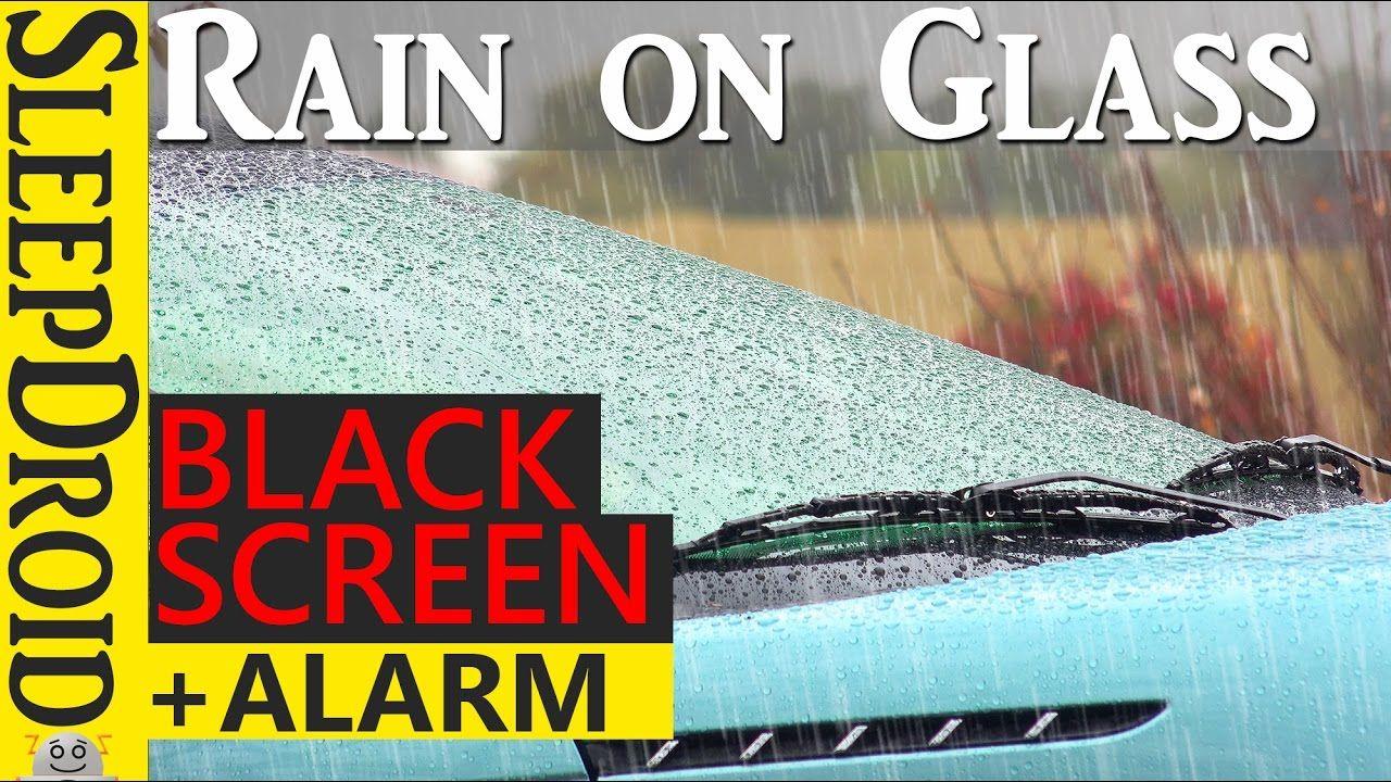 10 Uur Regen Op Glas Regen Op Een Venster Donker Scherm Alarmklok Scherm Regen Glas