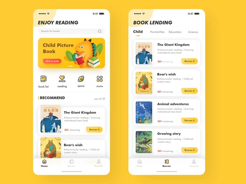 Children S Education Reading App 01 Desain App Aplikasi Desain