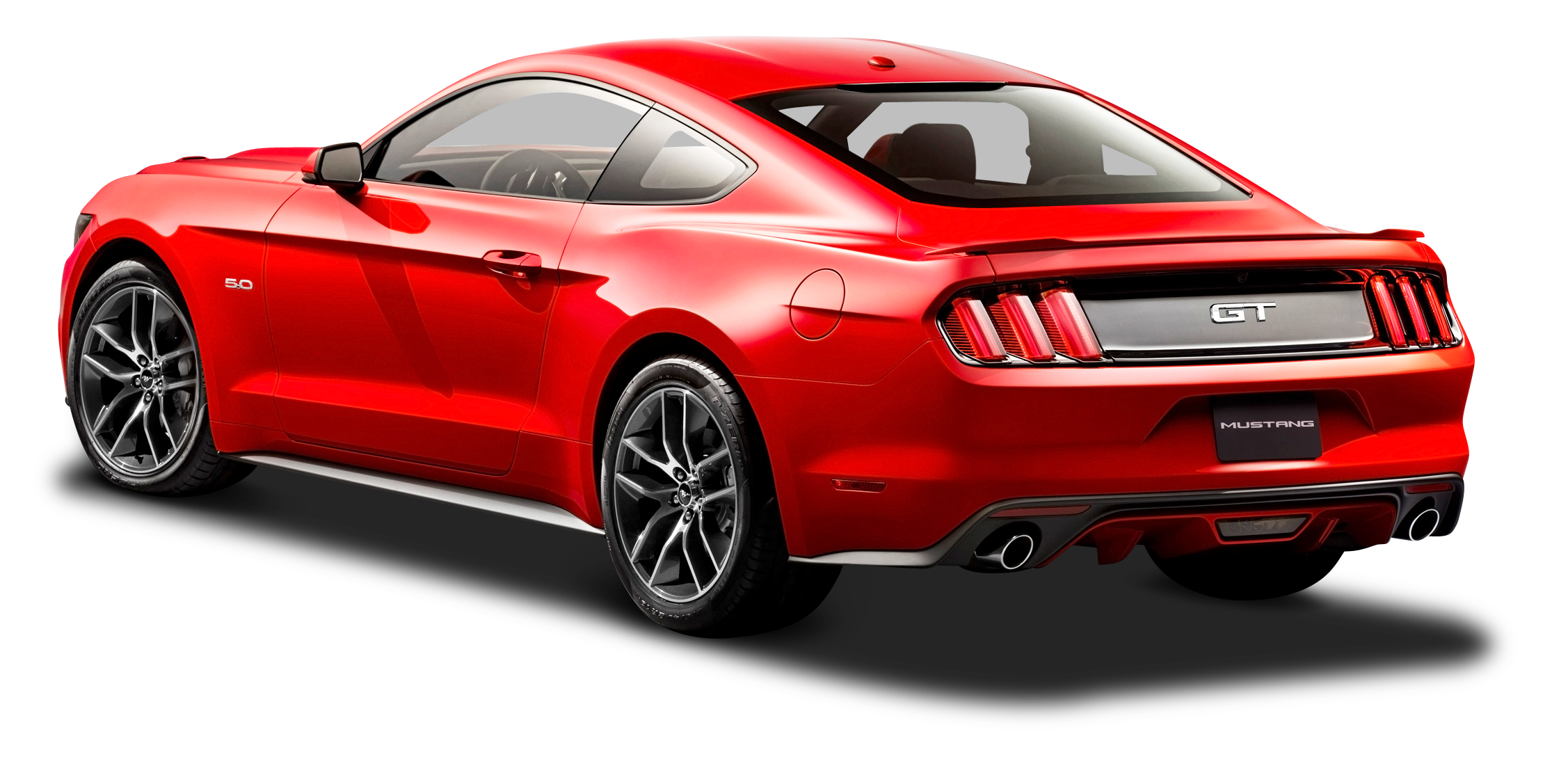 Ford Mustang Red Car Back Side Png Image Ford Mustang Red Car Mustang