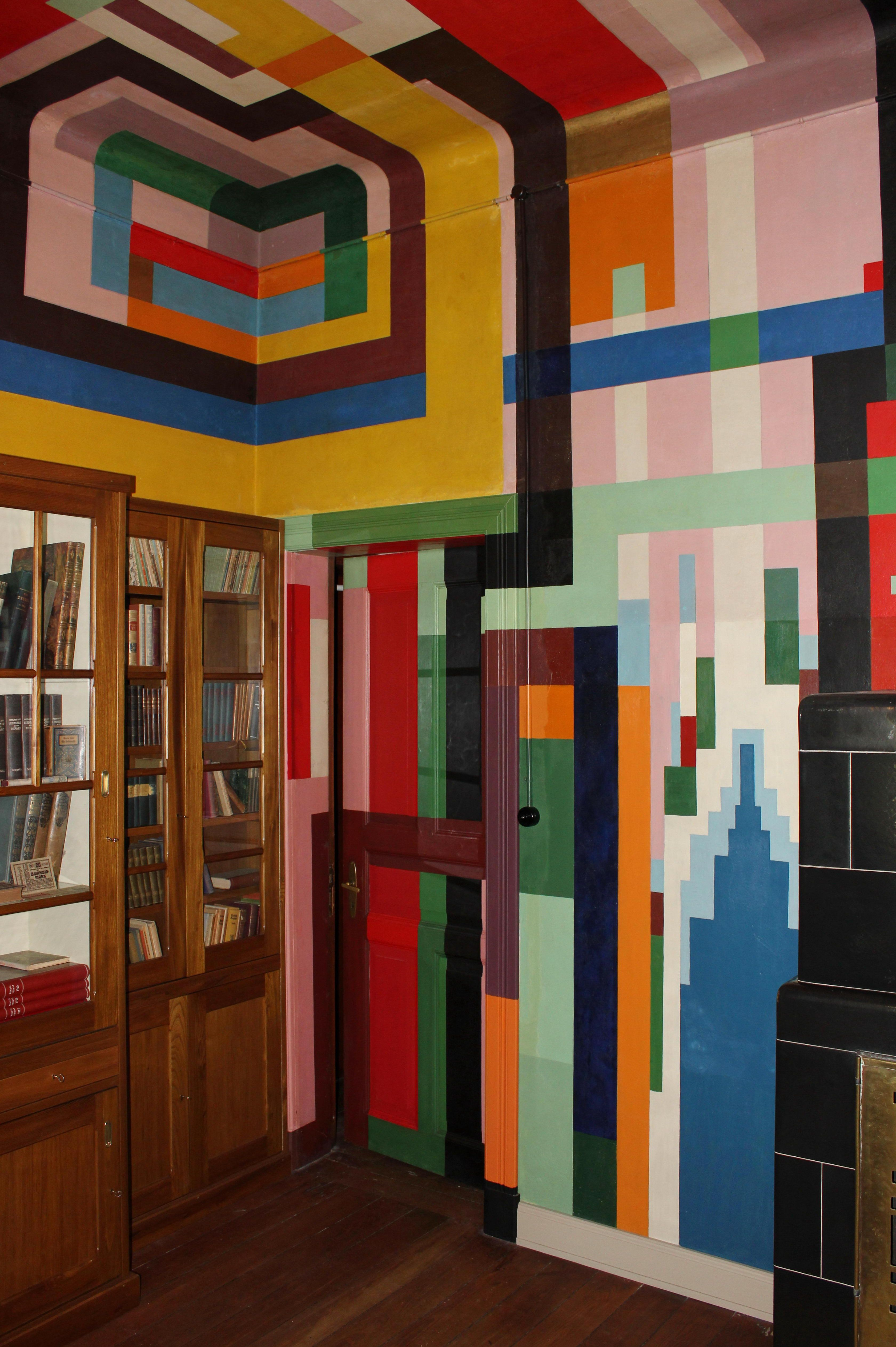 Innenarchitektur wohnzimmer lila wenzel hablik  restauriertes esszimmer seiner villa in itzehoe