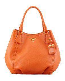 707967ee4 Daino Medium Shoulder Tote Bag Orange (Papaya) | S T Y L E | Prada ...
