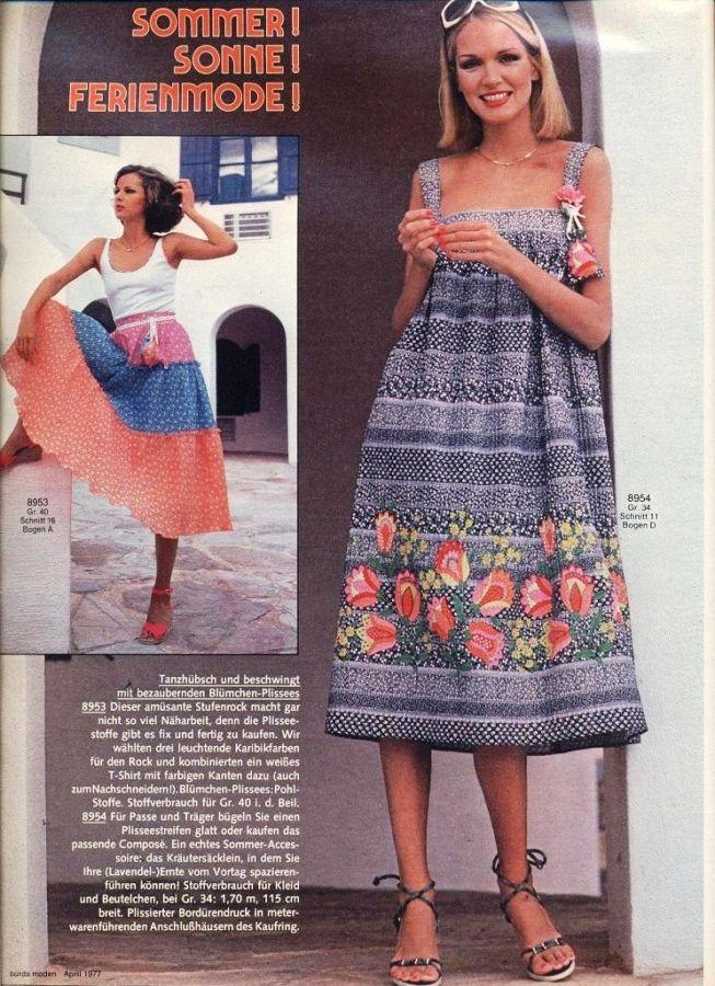 Burda Moden Fashion 1970 Burda Moden t Vintage 1b77a7133d7