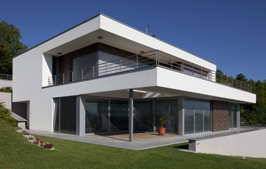 Maison contemporaine - menuiseries aluminium