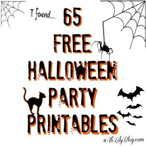 Free Halloween party printable round up at AliLilyBlog.com