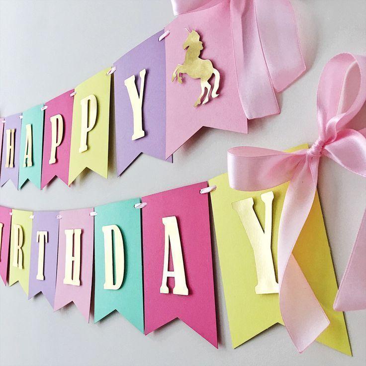 Ich freue mich sehr über den neuesten Eintrag in meinem Unicorn Birthday Banner U