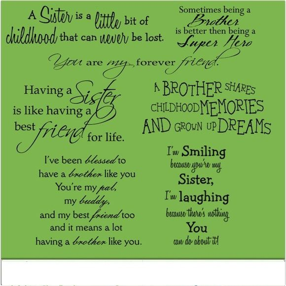 Brother And Sister Quotes Brother Sister Quotes ...