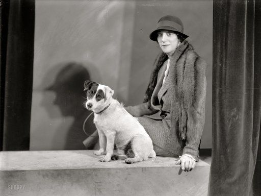 """1933. """"Mrs. Walter A. Foote, portrait with dog."""""""