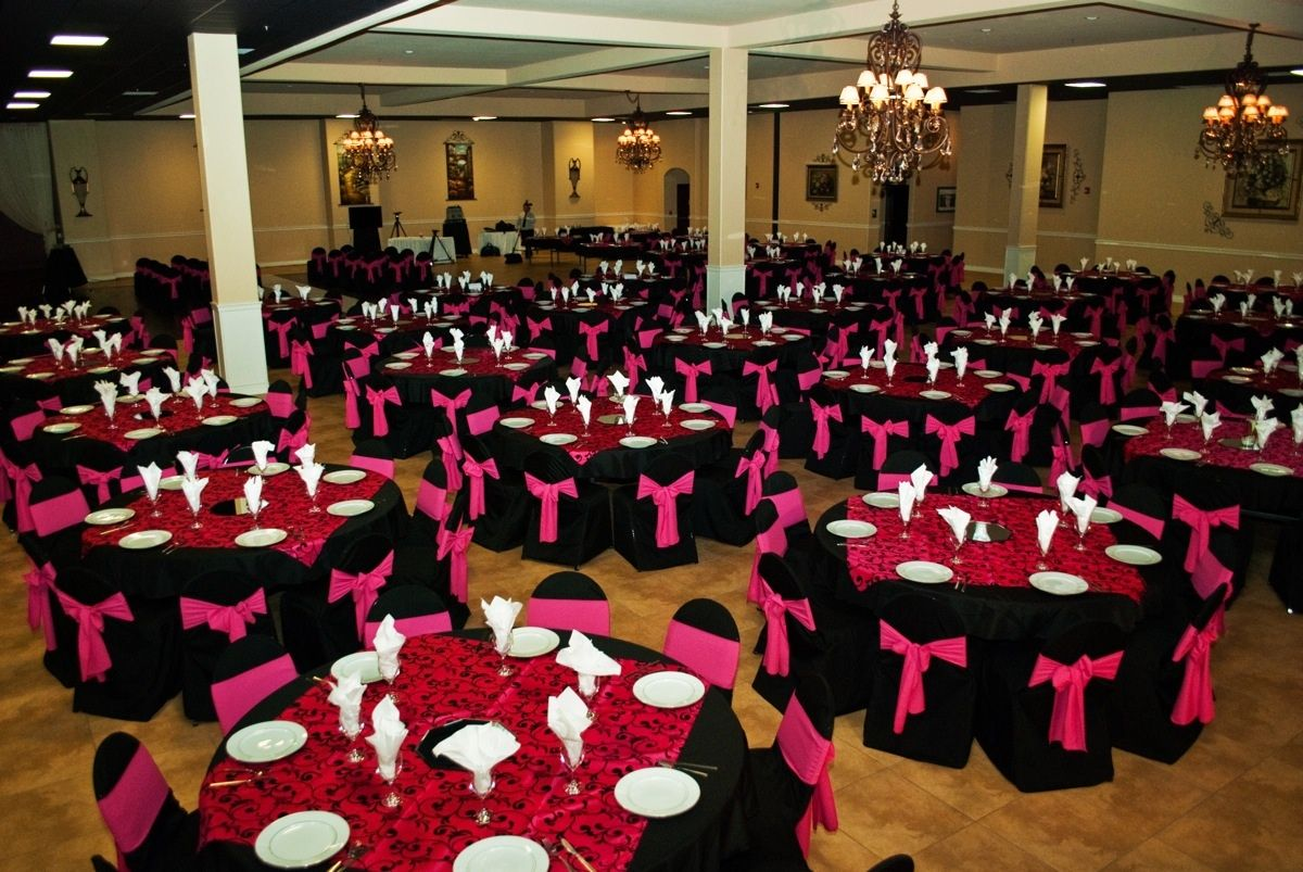 Quinceanera Hall Decorations Pink Onion Creek Ballroom A...