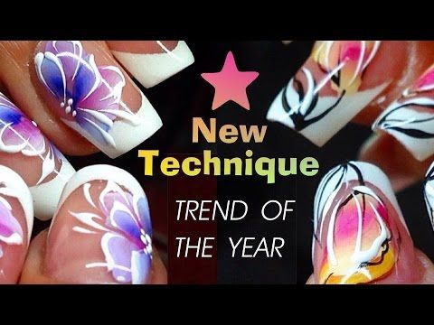 Trend Of The Year New Nail Art Technique Full Course For Advanced