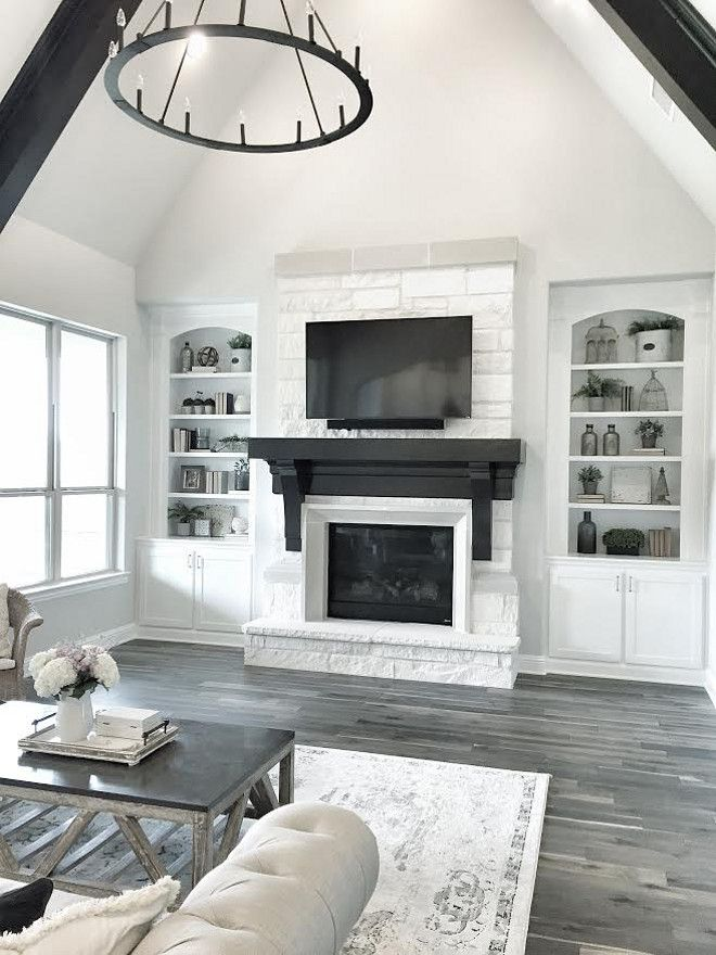 White Stone Fireplace. Living room White Stone Fireplace. Living ...