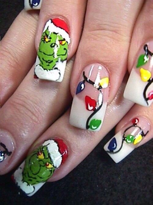 9 Best Christmas Nail Art Designs With Images Christmas Nail Art